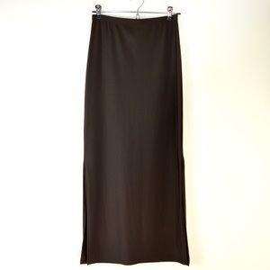 Merona Side Slit Maxi Skirt Brown | Size Small